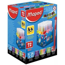Maped Viltstift Color'Peps 72 stiften in een kartonnen