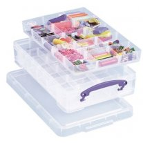 Really Useful Box 4 liter met 2 dividers, transparant