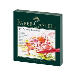 Faber Castell Pitt Artist Pen Brush 12-delig Studiobox