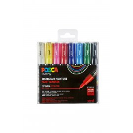 POSCA VILTSTIFTEN SET 8 PC1MC ASSORTIS