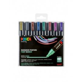 POSCA STIFTEN SET 8 STUKS METALLIC COLORS