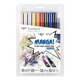 Tombow Brush pen ABT Dual Brush Pen Manga-Set