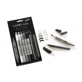 Copic Ciao set 5+1 (Multiliner) Grey Tones