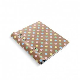 Filofax clipbook stippatroon A5 pastel spots notebook 023626