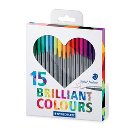 Staedtler triplus fineliner brilliant colours 15 stuks