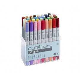 COPIC ciao markers hobby 36 stuk set B